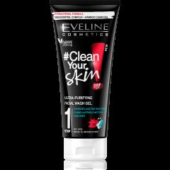 EVELINE #CLEAN YOUR SKIN! ultra-tisztító hatású arclemosó gél 200 ml