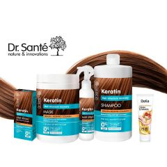 Dr.Santé keratinos hajkezelés csomag + Dr.Santé kézkrém