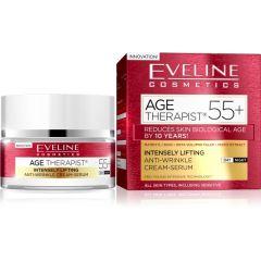 EVELINE AGE THERAPIST® 55+ Intenzív lifitng hatású és ránctalanító nappali/éjszakai arckrém-szérum 50 ml