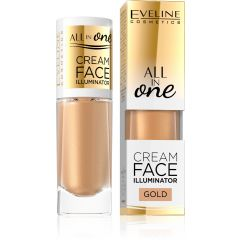 EVELINE ALL IN ONE CREAM FACE ILLUMINATOR krémes highlighter arany 8 ml