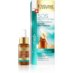 EVELINE FACEMED+ SOS INSTANT LIFTING Mély ráncok elleni arcszérum 100% hialuronsavval 18 ml