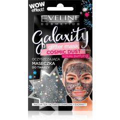 EVELINE GALAXITY COSMIC DUST bőrtisztító csillámos arcmaszk, fekete 10 ml