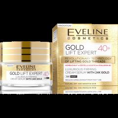 EVELINE GOLD LIFT EXPERT 40+ Luxus feszesítő nappali-éjszakai arckrém-szérum 50 ml
