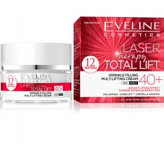 EVELINE LASER THERAPY TOTAL LIFT 40+ ráncfeltöltő multi-lifting arckrém 50 ml