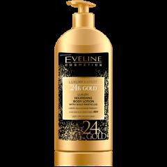 EVELINE LUXURY EXPERT 24K GOLD tápláló testápoló arany szemcsékkel nagyon száraz bőrre 350 ml