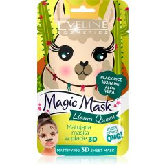 EVELINE MAGIC MASK Llama Queen insta effect mattító textil maszk 1 db