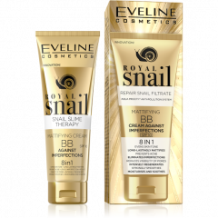 EVELINE ROYAL SNAIL 8in1 Csiganyálas mattító BB krém arcra 50 ml