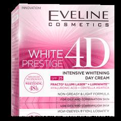 EVELINE WHITE PRESTIGE 4D intenzív bőrfehérítő nappali arckrém SPF25 fényvédelemmel 50 ml