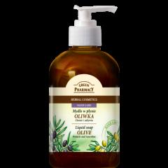 GREEN PHARMACY Gyógynövényes folyékony szappan olíva kivonattal 465 ml