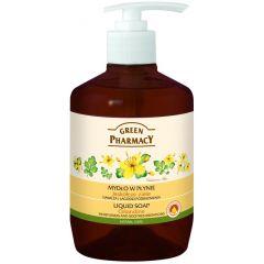 GREEN PHARMACY Gyógynövényes folyékony szappan vérfű kivonattal 465 ml