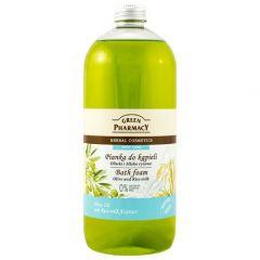 GREEN PHARMACY Gyógynövényes fürdőhab oliva és rizstej kivonattal 1000 ml