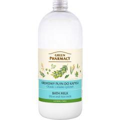 GREEN PHARMACY Gyógynövényes fürdőtej oliva és rizstej kivonattal 1000 ml