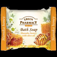 GREEN PHARMACY Gyógynövényes szappan manuka méz és olivaolaj kivonattal 100 gr