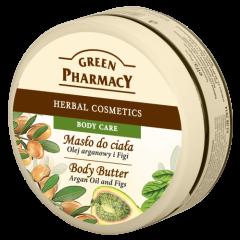 GREEN PHARMACY Gyógynövényes testvaj argan olaj és füge kivonattal 200 ml