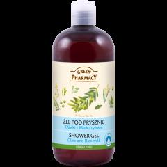 GREEN PHARMACY Gyógynövényes tusfürdő olíva és rizstej kivonattal 500 ml
