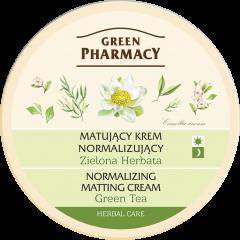 GREEN PHARMACY mattító és normalizáló hatású arckrém zöld tea kivonattal 150 ml