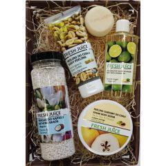 GREEN PHARMACY Gyógynövényes fürdő és wellness csomag bambusz kosárban - Rózsa