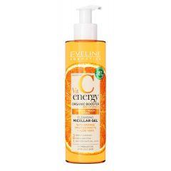 EVELINE VIT C ENERGY ORGANIC BOOSTER tisztító arclemosó micellás gél narancs és aloe vera kivonattal 200ML
