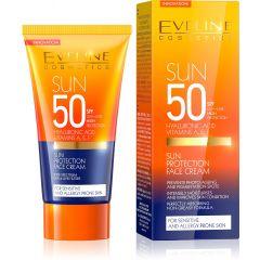 EVELINE SUN CARE EXPERT Napvédő arckrém érzékeny bőrre is SPF 50 UVA/UVB nagyon magas védelem 50 ml