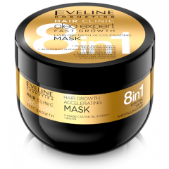 EVELINE HAIR CLINIC OLEO EXPERT 8IN1 hajnövekedést serkentő hajmaszk vékony szálú hajra 500 ML