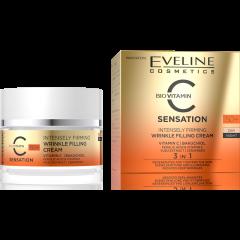 EVELINE C SENSATION 50+ intenzív feszesítő és ráncfeltöltő nappali-éjszakai arckrém c-vitaminnal 50 ml