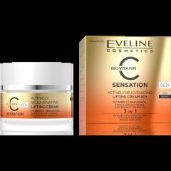 EVELINE C SENSATION 60+ aktív bőrfiatalító és lifting hatású nappali-éjszakai arckrém c-vitaminnal 50 ml