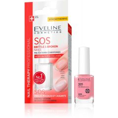 EVELINE NAIL THERAPY SOS vitaminos körömkondicionáló repedezett, vékony körömre 12 ml
