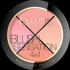 EVELINE Blush Sensation 4in1 Blusher paletta arcpirosító