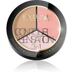 EVELINE CONTOUR SENSATION 3in1 kontúr paletta pink bézs