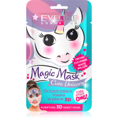 EVELINE MAGIC MASK Cute Unicorn insta effect arctisztító textil arcmaszk 1 db