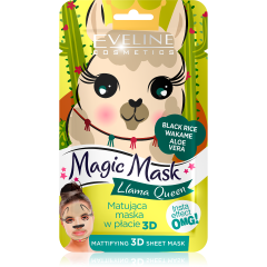 EVELINE MAGIC MASK Llama Queen insta effect mattító textil arcmaszk 1 db