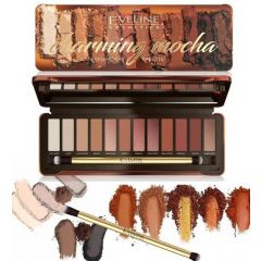 EVELINE EYESHADOW PALETTE 12 COLORS CHARMING MOCHA szemhéjpaletta