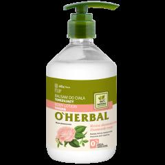 O'HERBAL Tonizáló testápoló damaszkuszi rózsa kivonattal 500 ml