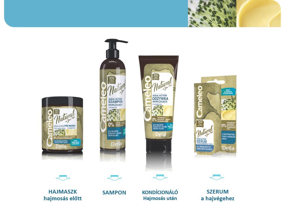 Cameleo natural hidratáló hajkezelés természetes